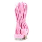 USB, Apple 30pin Kabel für iPhone 4 / 4S - Pink (300cm)