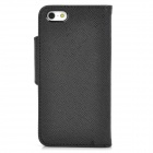 REMAX MKI5PC-1 Protective PU Leather Case for Iphone 5 - Black
