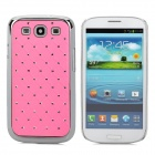 Crystal Coating Protective Back Case for Samsung Galaxy S3 / I9300 - Pink + Silver