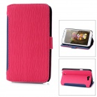 A3508 Protective PU Leather Case for Samsung Galaxy Note 2 N7100 - Telemagenta