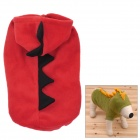 Cute Dinosaur Shape Soft Cotton Dog Apparel Pet Cloth - Red (Size M)