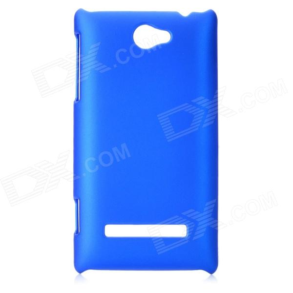 Protective Plastic Back Case for HTC 8S (A620e) - Blue