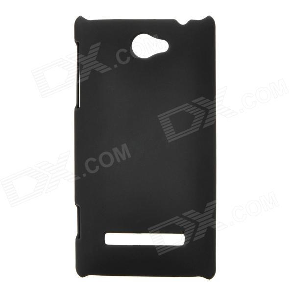 Protective Plastic Back Case for HTC 8S - Black protective matte frosted back case for htc one x s720e black