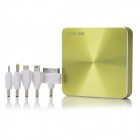 HCHC H-8 11200mAh Emergency External Battery Charger w/ Adapters for iPhone - Yellow Green + Black