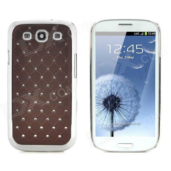 Фото CrystalCoating Protective Back Case for Samsung Galaxy S3 / I9300 - Coffee + Silver стилус other apple ipad samsung galaxy s3 i9300 21 eg0628