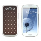 CrystalCoating Protective Back Case for Samsung Galaxy S3 / I9300 - Coffee + Silver