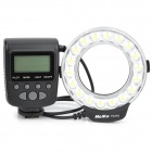 MeiKe FC-110 5500K 100lm 9.6W 18-LED White Macro Ring Flash Light for DSLR - Black (4 x AA)