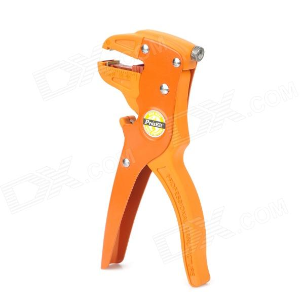 Pro'skit 808-080 Duckbilled Automatic Wire Stripper Stripping Tool - Orange + Yellow free shipping swt508c ii automatic wire stripping aachine model swt508d 110 220v two wheel drive