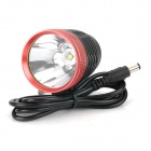 800lm White 3-Mode Cree XM-L T6 Bicycle Headlamp - Black+Red (4*18650)