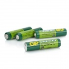 GP Non-Chargeable Heavy Duty 400mAh 1.5V AAA R03 Carbon Zinc Batteries - Green (4 PCS)
