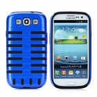 Detachable Protective Back Case for Samsung Galaxy S3 i9300 - Blue + Black