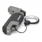 Honest Windproof Stainless steel Butane Jet Torch Lighter w/ Key Ring - Black