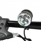 RUSTU D30 2300lm 3-Mode White Bicycle Headlamp w/ 3-Cree XM-L T6 - Black + Red (6 x 18650)