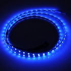 12.6W 630lm 90-SMD 1210 LED Blue Light Car Decoration Lamp Strip - Yellow (12V / 90cm)