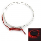 D13010803X 3.3W 176lm 22-SMD 1210 LED Red Light Car Flexible Lamp Strip - White (12V / 30cm)