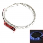 D13010804X 6.6W 352lm 44-SMD 1210 LED White Light Car Flexible Lamp Strip - White (12V / 60cm)
