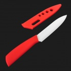 "TIMHOME KITCHENWARE U 5"" Chic Chefs Ceramic Knife - Red"