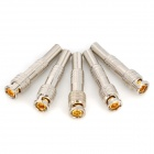 Zinc Alloy BNC Video RF Coaxial Connection Adapters - Silver (5 PCS)