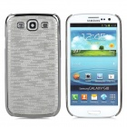 Protective Electroplating Back Case for Samsung Galaxy S3 / i9300 - Silver