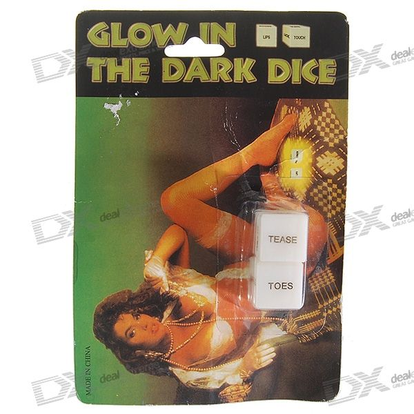 Glow-in-Dark Intimate Truth-or-Dare Dices (2-Dice Set)