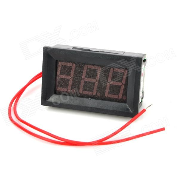 V27A 0.56 LED Two Line 3-Digital Alternating Current Voltmeter - Black (AC 75~300V) aluminum project box splitted enclosure 25x25x80mm diy for pcb electronics enclosure new wholesale