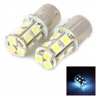 1156 2.5W 182lm 13-SMD 5050 LED White Car Brake / Fog / Steering / Tail Light (2 PCS)