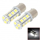 1156 3.5W 6000K 252lm 18-SMD 5050 LED White Car Brake / Reversing / Steering Lamps (12V / 2 PCS)