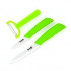 "3-in-1 Zirconia Ceramic 3"" / 5"" Knife + Peeler Set - Green"