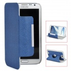 360 Degree Rotatable Protective PU Case for Samsung Galaxy Note 2 / N7100 - Blue + Grey