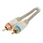 CR-3P-2 2 X RCA Male to Male Car Audio Cables - Transparent (2m-Cable)
