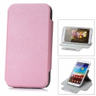 360 Degree Rotation Protective PU Case for Samsung Galaxy Note II N7100 - Light Pink + Grey