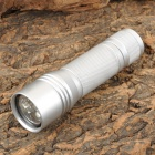X007D 7-LED 80lm White Portable Flashlight - Silver (2 x 123A / 2 x 16340)