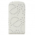Maple Leaf Pattern Protective Top Flip-Open PU Leather Case for Samsung i8190 - White