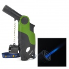 Menghu-256 Windproof Butane Jet Torch Lighter w/ Strap - Green + Black