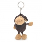 Nette Big Mouth Chimpanzee Toy Keychain - Brown