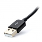 USB2.0 to 3.5mm AUX Audio Data Charging Cable for Samsung i9100 / i9300 / i9220 - Black (115cm)