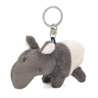 Cute Plush Mouse Doll Toy Keychain - Grey + White