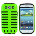 2-in-1 Protective Detachable Back Case for Samsung Galaxy S3 / i9300 - Black + Fluorescent Green