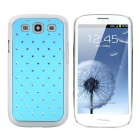 CrystalCoating Protective Back Case for Samsung Galaxy S3 / I9300 - Blue + Silver