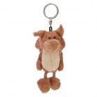 Cute Plush Long Tail Fox Doll Toy Keychain - Brown