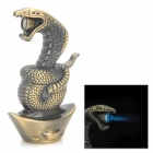 Snake Shaped Blue Flame Butane Gas Windproof Lighter - Bronze