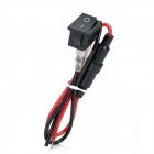 20649 DIY Rocker Switch - Black + Red (26cm-Cable / 125~250V)