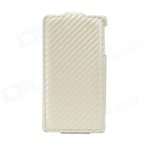 Protective Top Flip-Open PU Leather for SONY LT29i - Beige