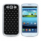 Diamond Starry Pattern Protective Back Case for Samsung Galaxy SIII i9300 - Black + Silver