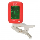 "ENO ET-05A 1.2"" Colored Display Clip-On Tuner for Guitar / Violin / Bass - Red + White (1 x CR2032)"