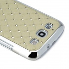 Diamond Starry Pattern Protective Back Case for Samsung Galaxy SIII i9300 - Light Grey + Silver