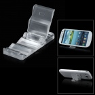 Mini Portable Stepped Stand Holder for Cellphone + GPS + More - Transparent