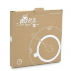 WT WT20121020CC Creative Coffee Time Wall Mounted Clock - White