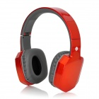 BH260-Folding Wireless Bluetooth v2.1 Stereo Headphones w/ Microphone - Orange + Slate Grey