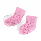 Cute Rabbit Shaped Cotton Non-Slip Baby Socks - Pink (Pair)